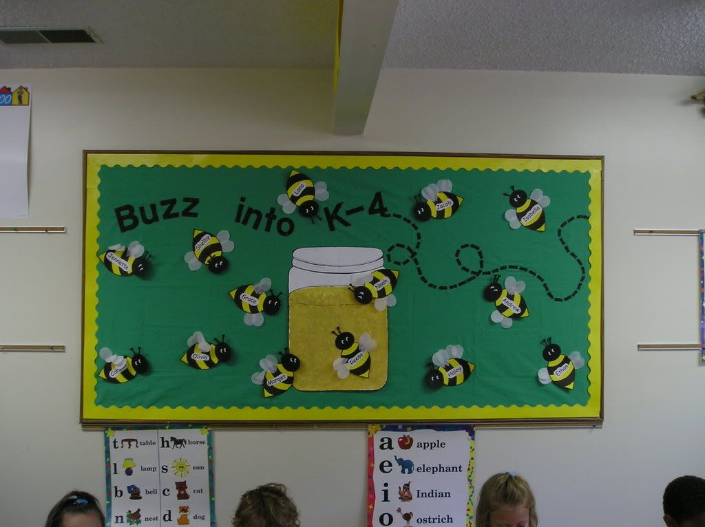 Classroom Ideas With Bees ~ Busy bee classroom this is a very tidy looking board