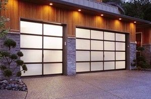 Modern Contemporary Full View Frosted Glass Garage Doors 16x7 Garage Doors Fiberglass Garage Doors Contemporary Garage Doors
