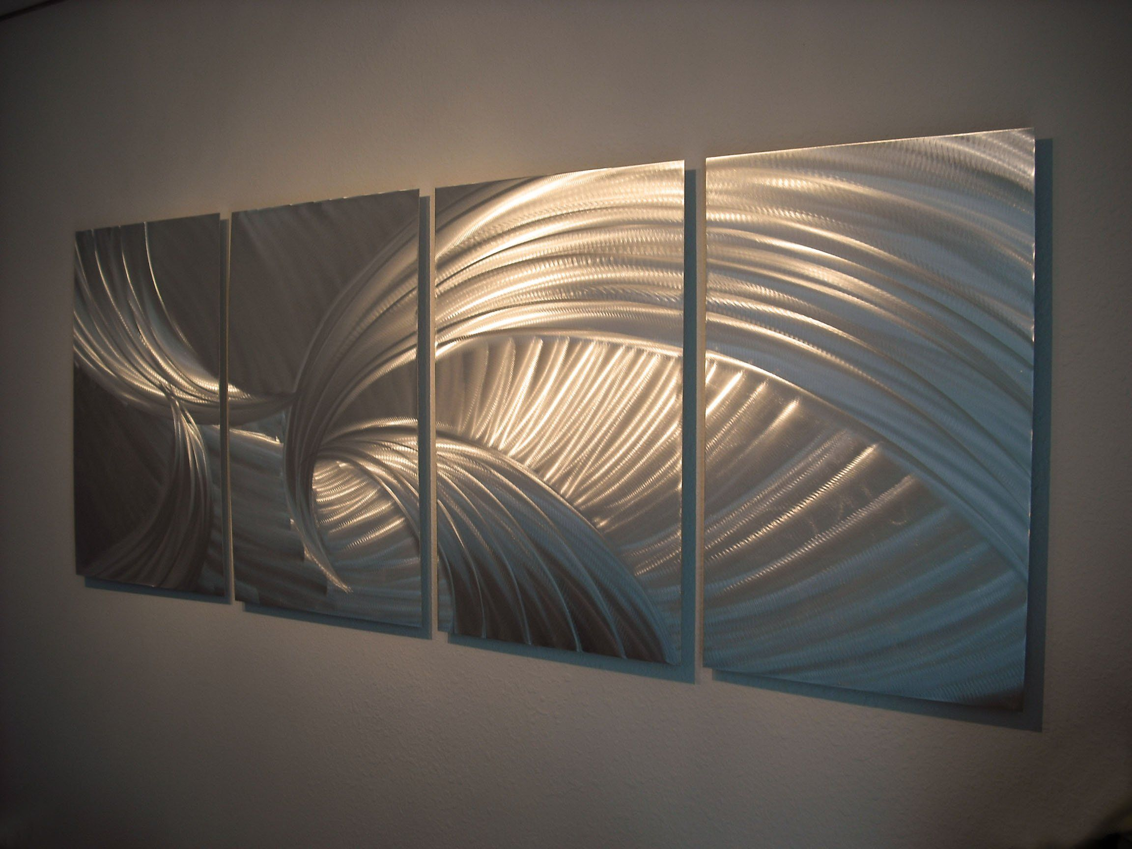 Metal wall art modern home decor abstract wall sculpture contemporary tempest