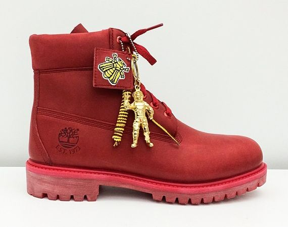 red timbs x bbc   Red timberland boots