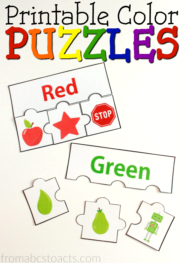 Printable Color Puzzles Color Puzzle Color Activities Teaching Colors