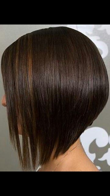 Bob Haircut Short In Back Long In Front Angled Bob Haircuts Hair Styles Bob Hairstyles