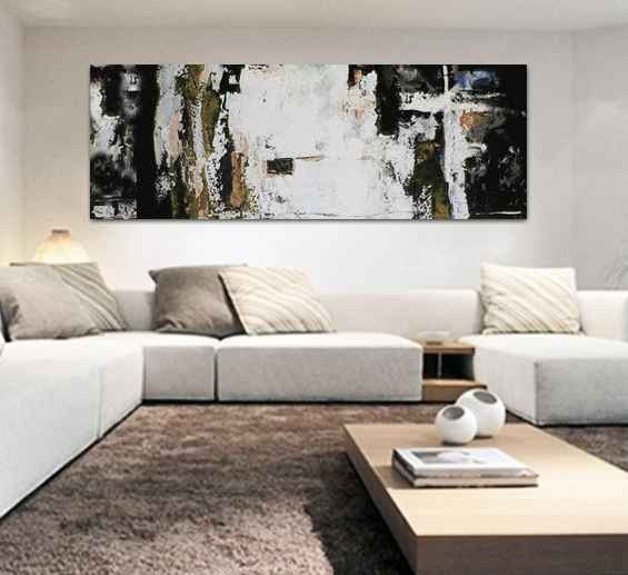 Cuadros abstractos decoraci n sal n moderno comprar online - Cuadros abstractos para salon ...