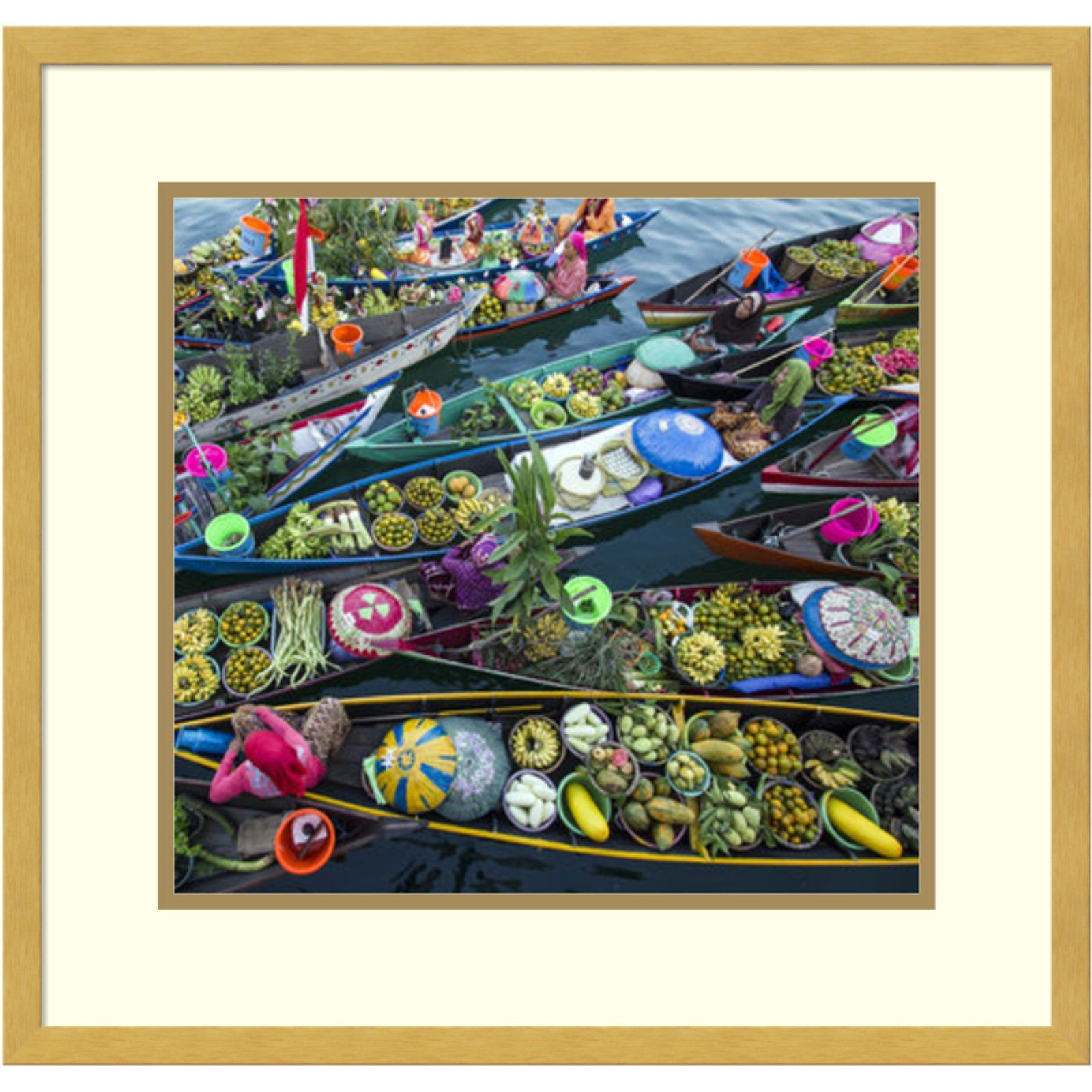 Amanti Art Banjarmasin Floating Market Framed Wall Art By Fauzan Maududdin Framed Art Prints Amanti Art Art
