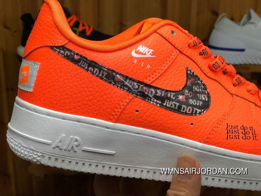 Nike Air Force 1 Low 07 Premium Just Do It Pack Total Orange Af1