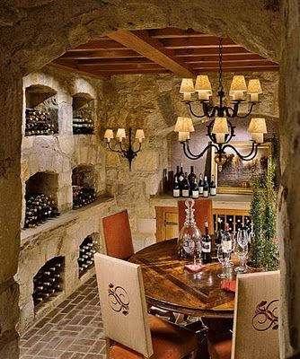 Cozy cottage wine cellar. Thomas Pheasant.