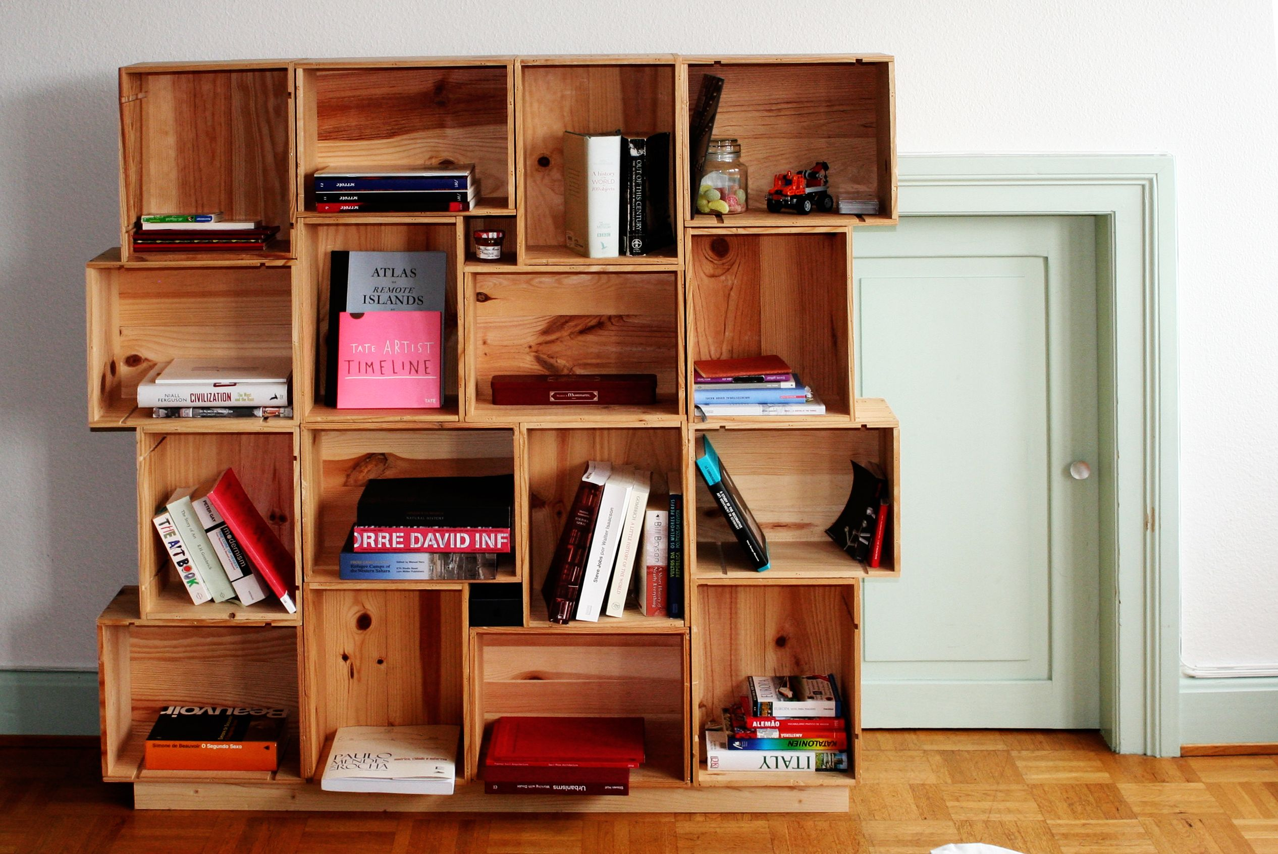 Diy modular shelves belgrave apartment pinterest wine