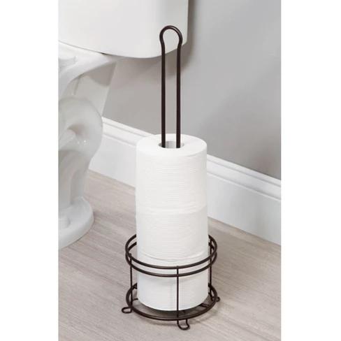 3 Roll Freestanding Toilet Tissue Holder Bronze Threshold Free Standing Toilet Paper Holder Bathroom Tissue Holder Toilet Paper Holder