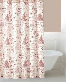 Holiday Shower Curtain Holiday Shower Curtains Fabric Shower