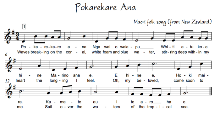 Folk Songs in 3 | Sheet Music and Tabletures - Songs, Hymns