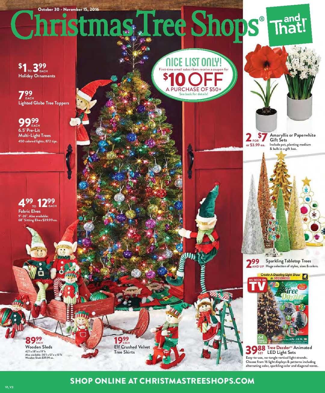 Christmas Tree Shops Ad November 3 - 15, 2016 - http://www ...