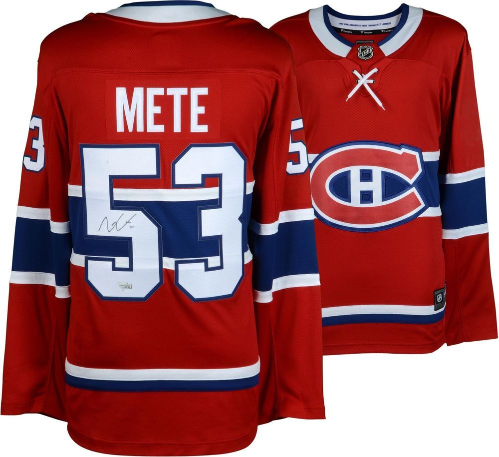 8f0f16b59 Victor Mete Montreal Canadiens Autographed Red Fanatics Breakaway Jersey
