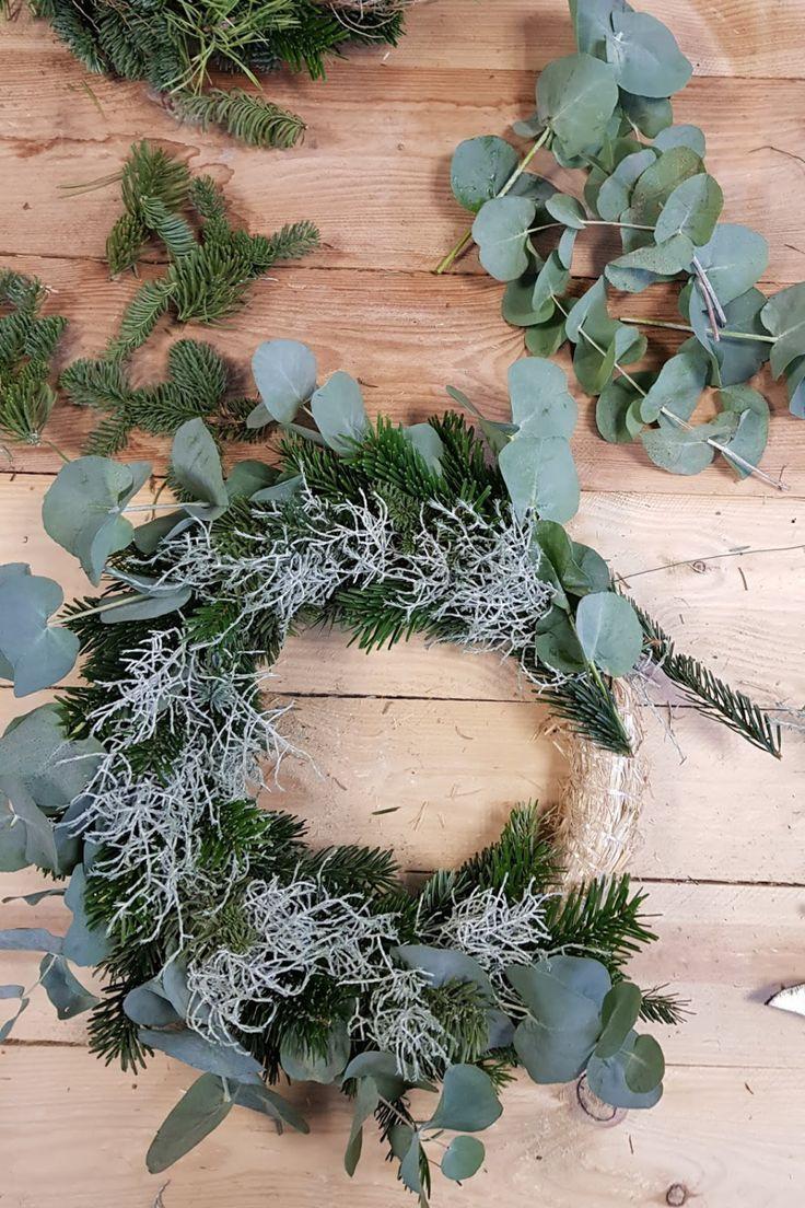 Photo of DIY Adventskranz mit Eukalyptus