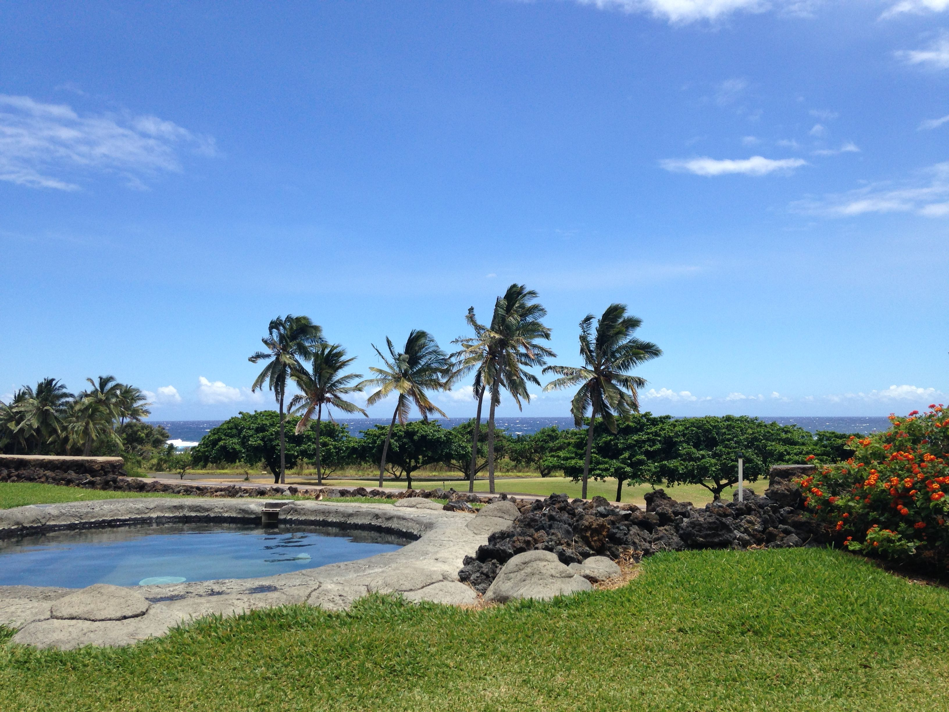 stunning view from sea mountain resort in pahala, hawaii. courtesy