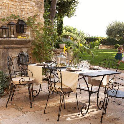 Table de jardin métal Novella, AmPm Meubles jardin Pinterest - meuble en fer design