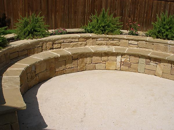 Custom Bench Seating Semi Circle Stone Bench Custom