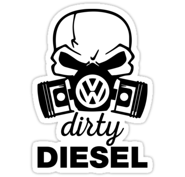 We Love Vw Tdi Dirty Diesel Vw Gas Mask Stickers By Lolotees