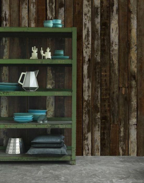 Coole Shabby Chic Tapeten in Holzoptik - #Dekoration, #Wanddeko - holzoptik tapete ideen