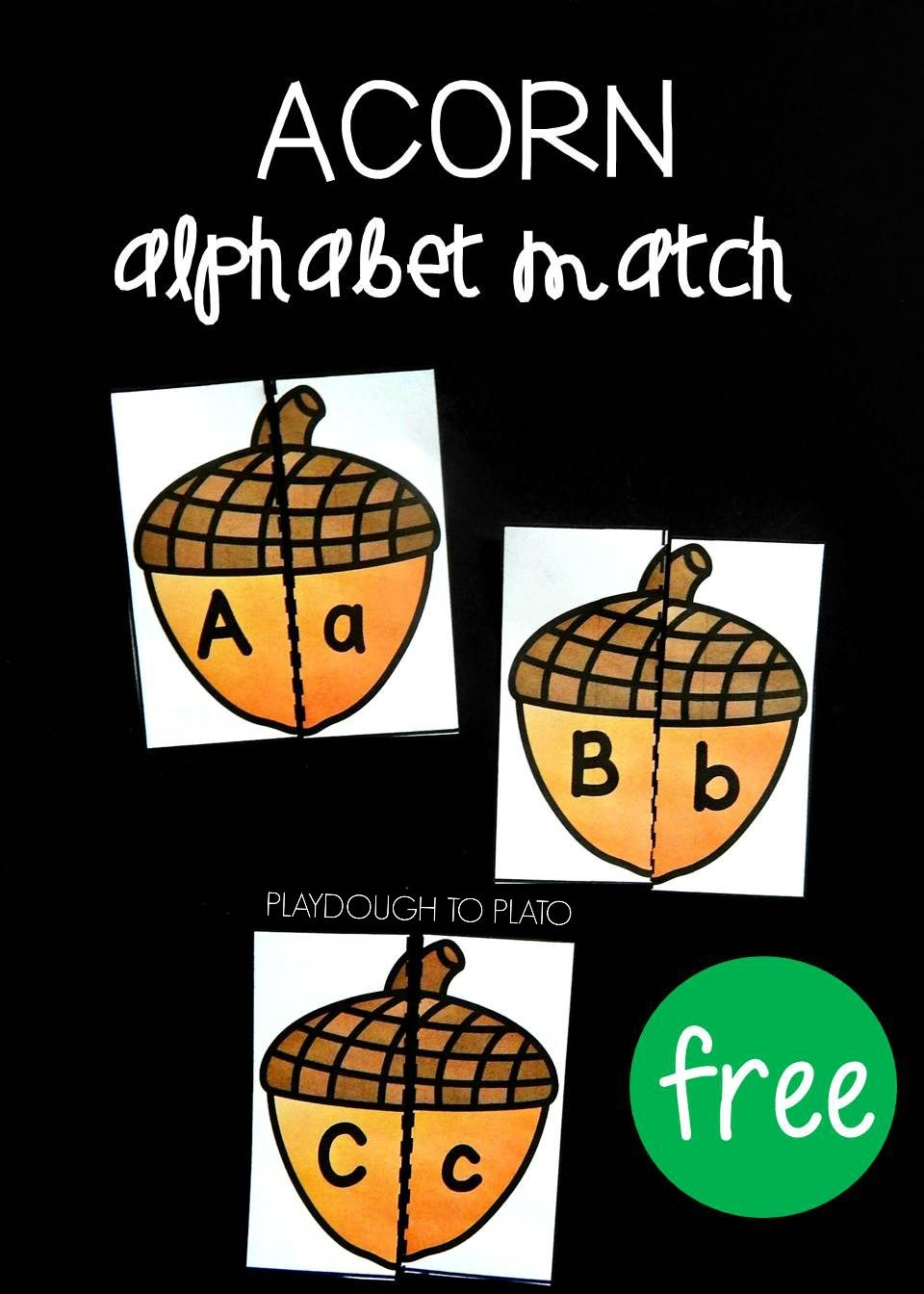 Acorn Alphabet Match  Order Letter Alphabet Games And Kindergarten