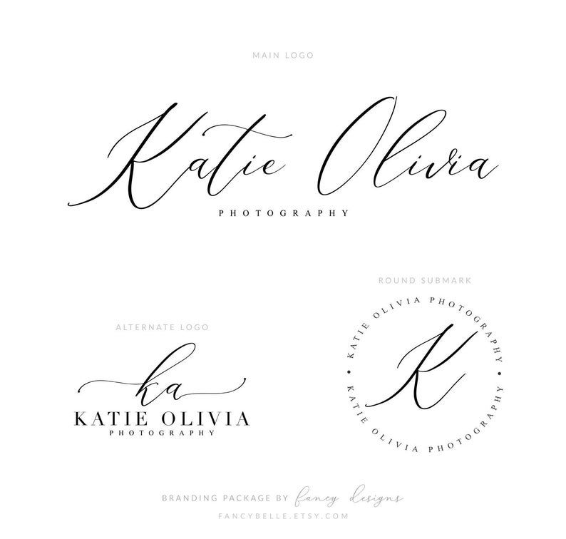 Photography logo and branding package for watermarking