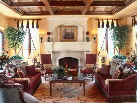 The Cultural Aspects Of A Spanish Inspired Home Interior Make It A Popular Choice Among Americans Wheth Tuscan Living Rooms Tuscan Decorating Tuscan Furniture Spanish inspired living room decor