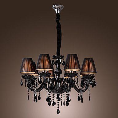 Chandelier Luxury Modern Black Crystal Living 8 Lights Usd 179 99 Modern Crystal Chandelier Modern Black Chandeliers Black Crystal Chandelier