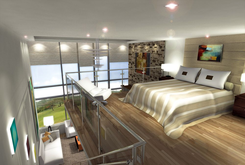 Bedroom loft master bedroom refab loft bedroom condo for Bedroom door ideas loft apartment