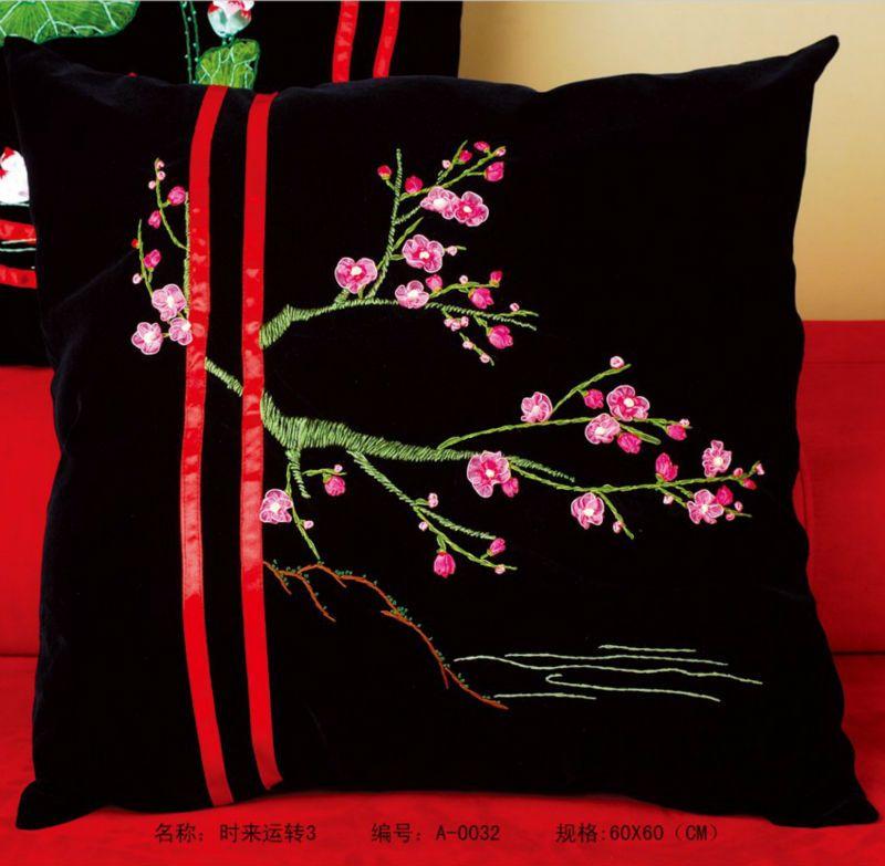 3d Ruban Broderie Kits Taie D Oreiller Peach Fleurs 60 60 Cm Decoration De La Maison De L Artisanat Articles Innovants La M Craft Taie D Oreiller Et Artisanal