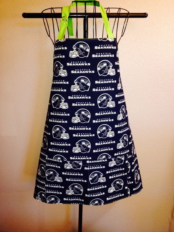 Seattle Seahawks tailgate apron by Therapythreads on Etsy bb0cd3a2b