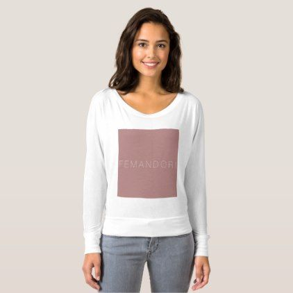 Custom design flowy off the shoulder long sleeve shirt