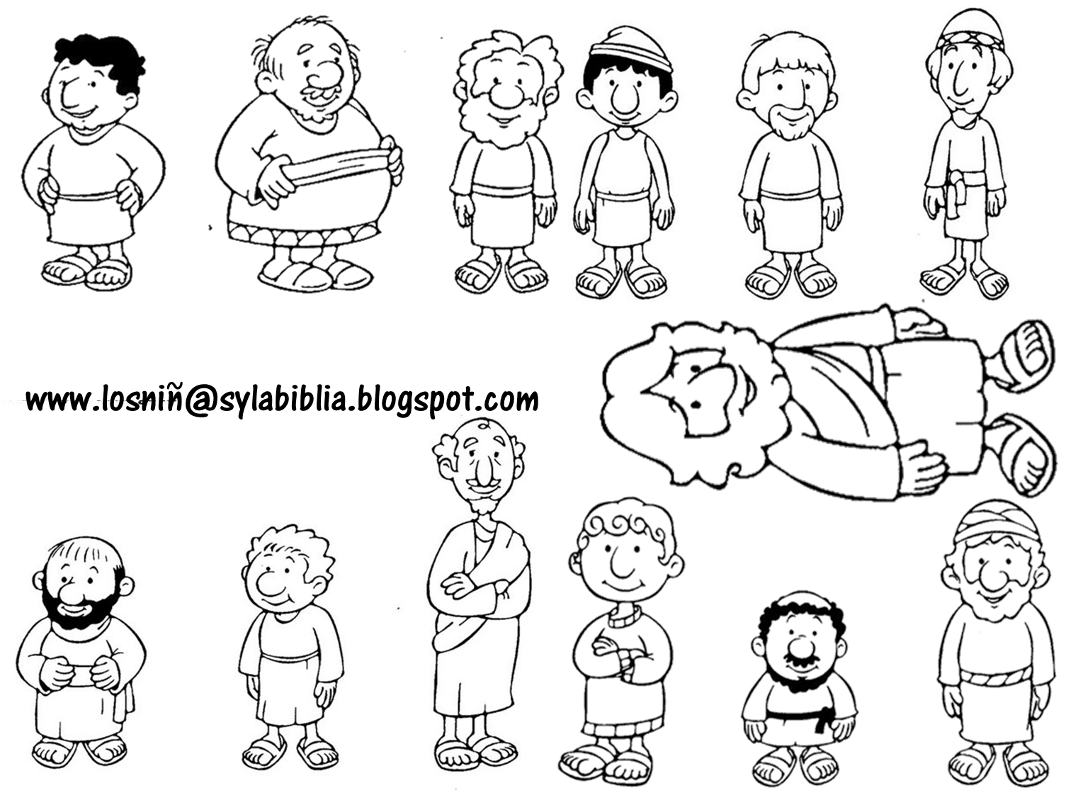 Jesus and his disciples template bible class ideas for 12 disciples coloring page