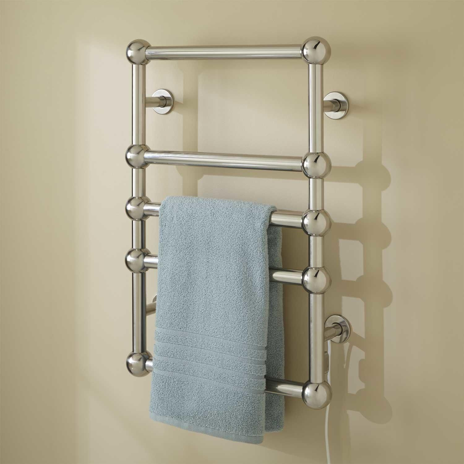 "20"" Lausanne Plug In Towel Warmer Polished Stainless Steel"