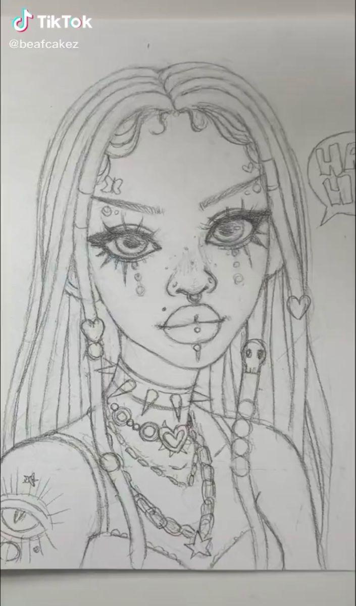 Beafcakez On Tiktok Indie Drawings Art Drawings Sketches Simple Cartoon Art Styles