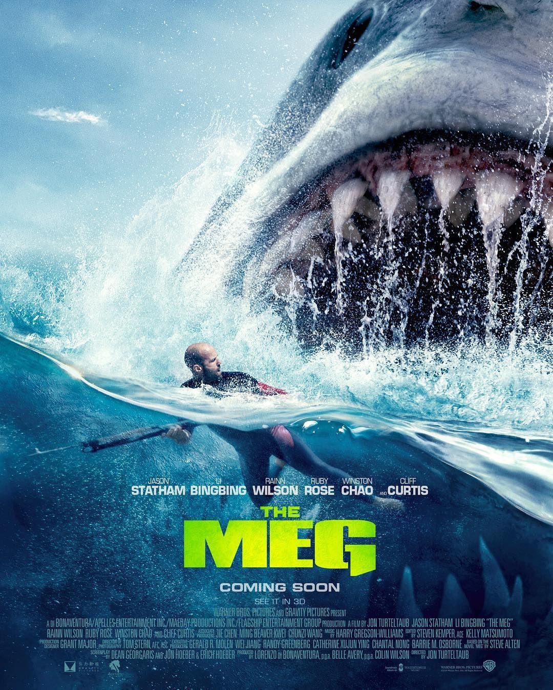 The Meg New Official Poster Meg Movie Shark Film Movie Posters