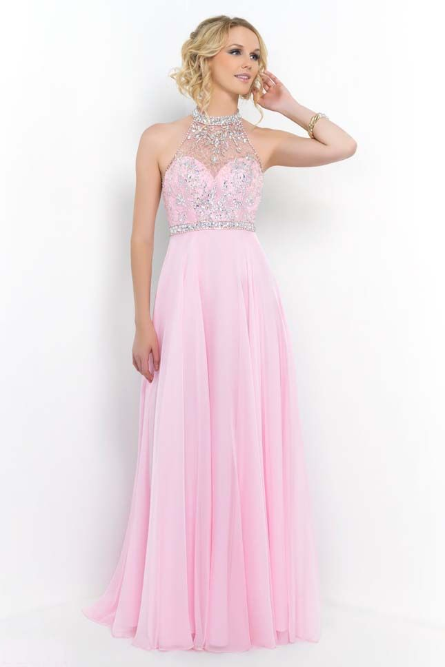 2015 Prom Dresses with High Neck