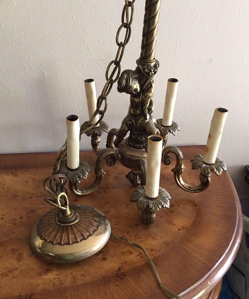 Vintage feldman company brass angel chandelier cherub angel vintage feldman company brass angel chandelier cherub angel chainlink felman arubaitofo Gallery