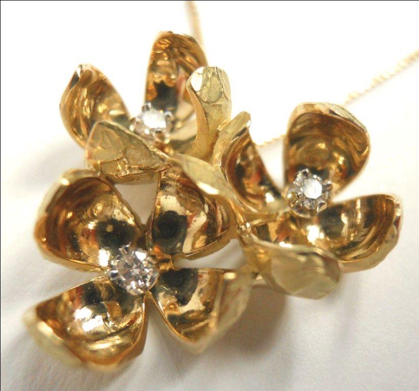 Gold and diamond Collier Quaglia