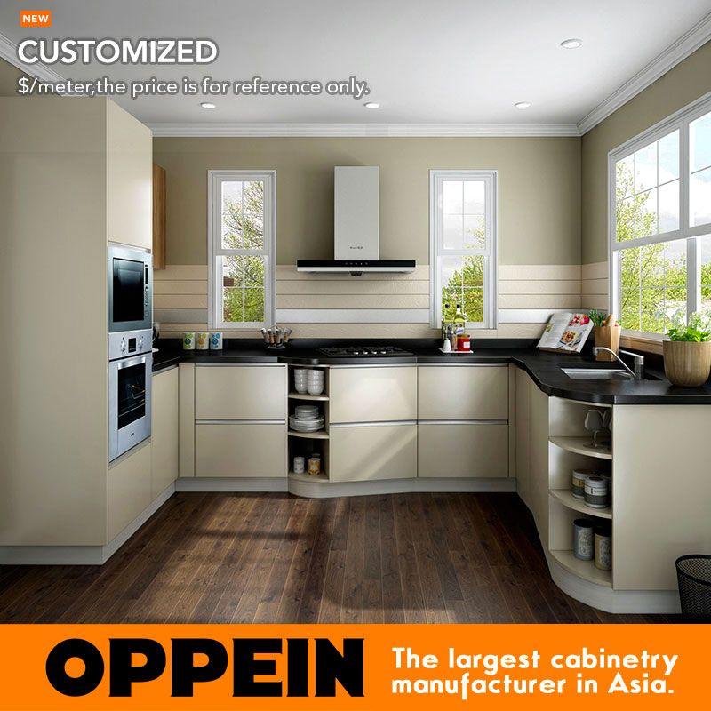 Oppein Modern Wholesale Hpl Melamine Small Kitchen Cabinets Op16 Hpl02 Small Kitchen Cabinets Small Kitchen Home Furniture