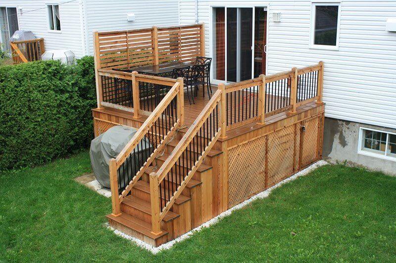 Photo modele design idee piscine pergola toit spa terrasse patio patio wall et deck with - Pergola piscine ...