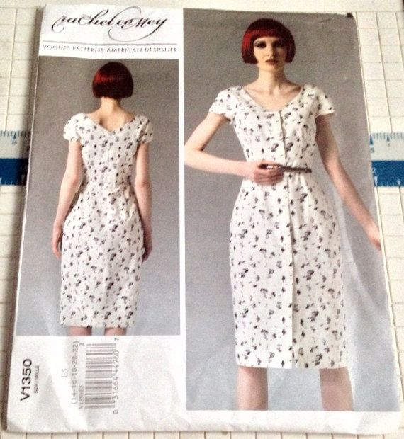 Vogue 1350 Rachel Comey Dress Pattern Close by SewingPatternStore ...