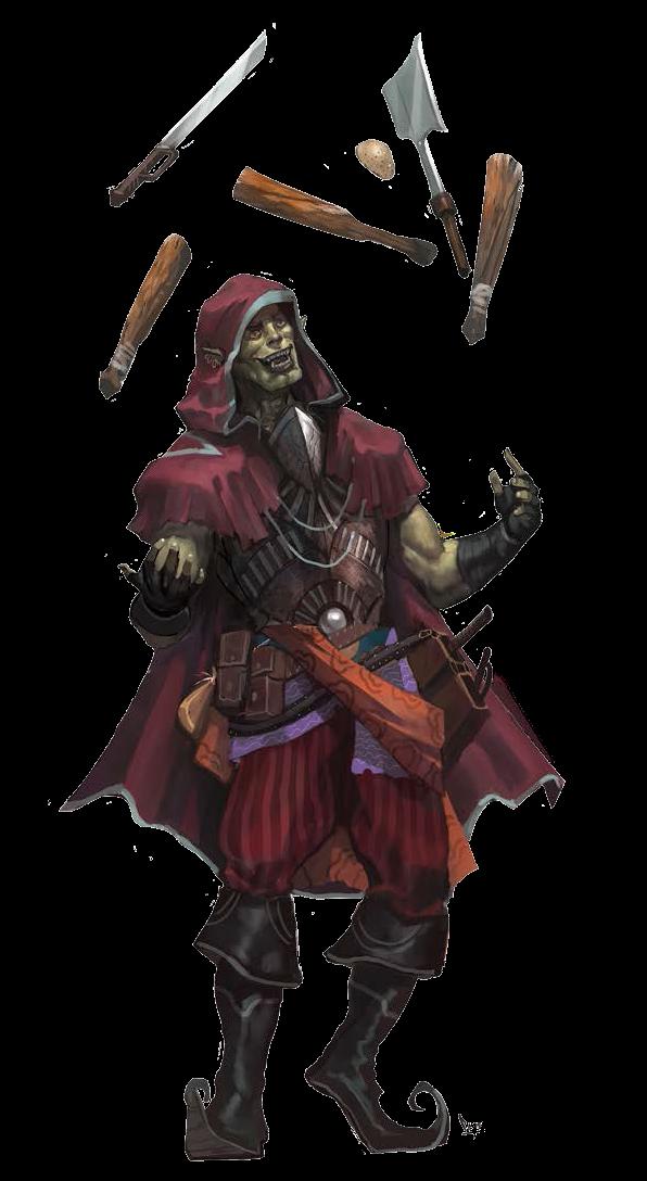 m Half Orc Bard juggler