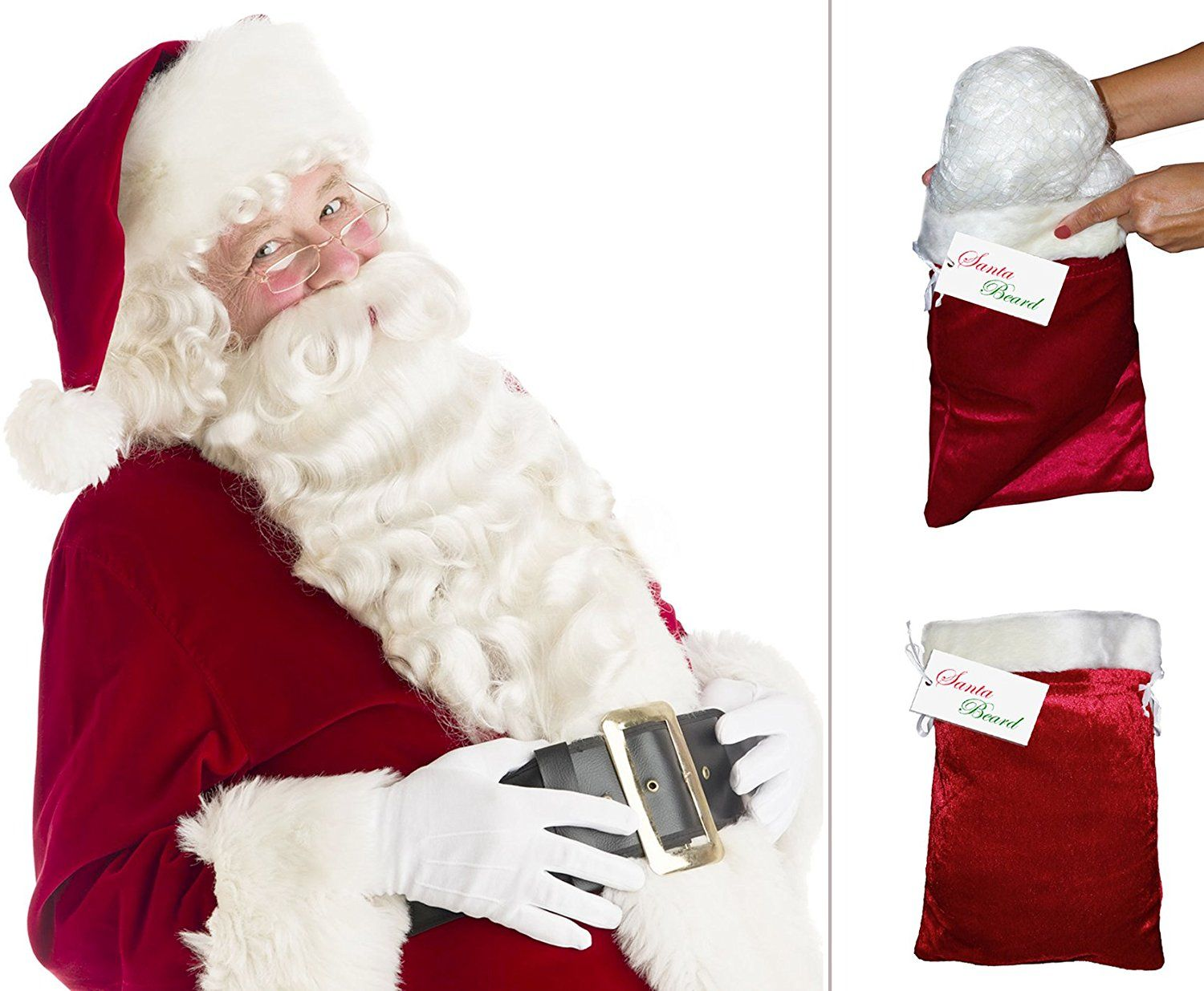 Forum Santa Costume Belly Stuffer Red One Size