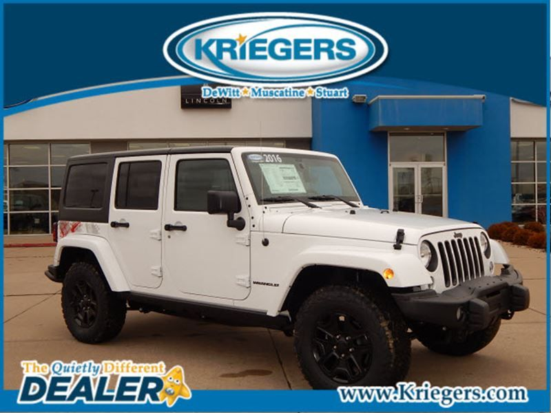 New 2016 Jeep Wrangler Unlimited Sahara For Sale In Muscatine