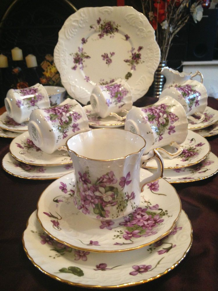 Vintage Hammersley Spode Victorian Violets Countryside