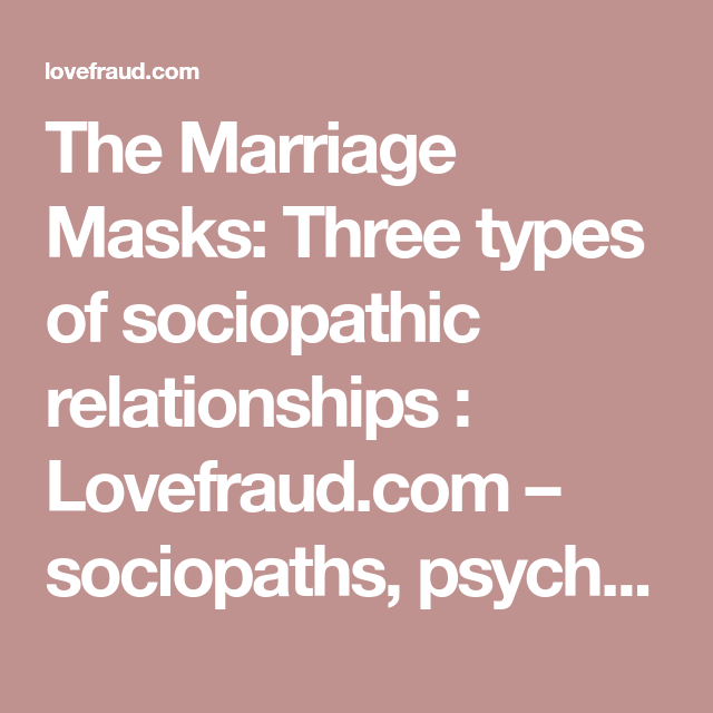 Different types of sociopaths