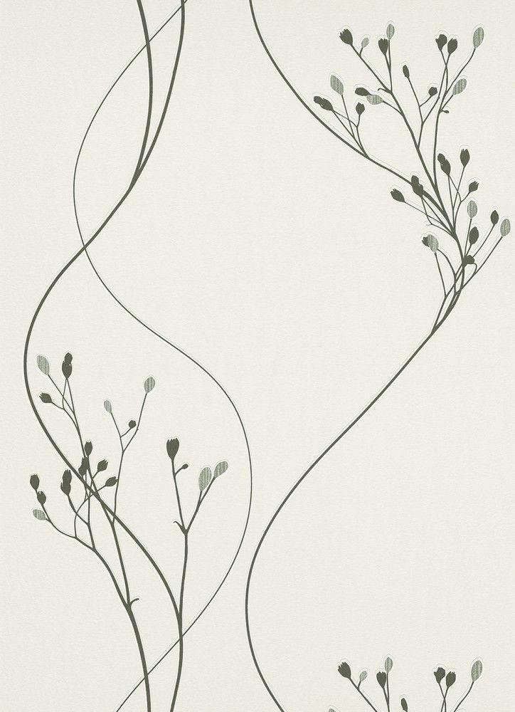 Tapete myself erismann vliestapete 6861 15 686115 floral wei schwarz silber wallpaper - Tapeten schwarz weiay silber ...