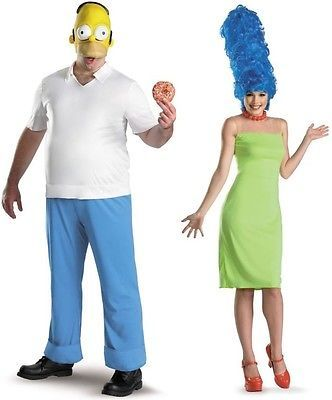Couples Homer and Marge Simpson Adult Costumes Disguise 11847 11849 Cosplay  sc 1 st  Pinterest & Couples Homer and Marge Simpson Adult Costumes Disguise 11847 11849 ...