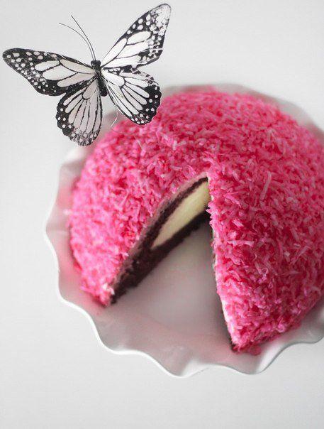 Торт «Розовый снежок»   Торт, Вкусные торты, Десерты