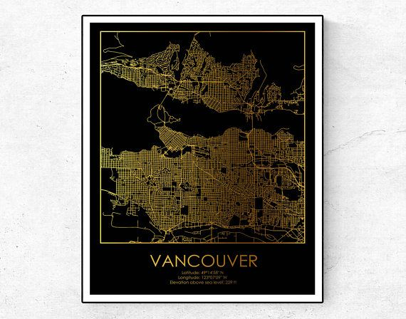 Vancouver map vancouver print vancouver wall decor city map print vancouver map vancouver print vancouver wall decor city map print canada poster gumiabroncs Image collections