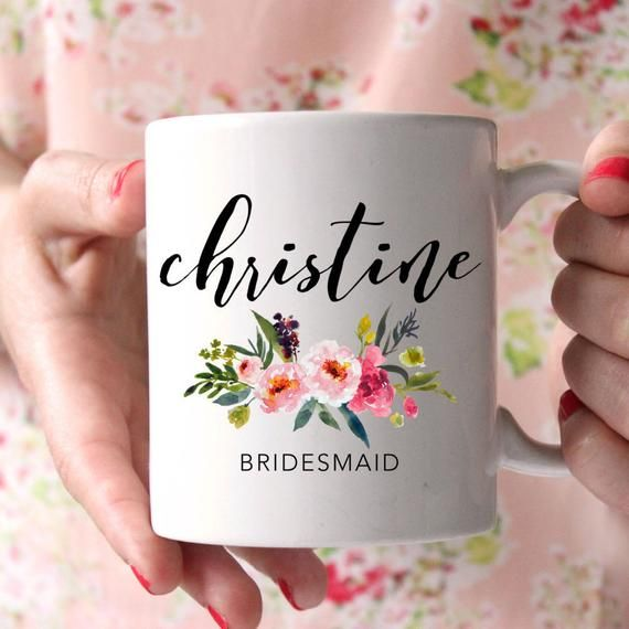Thank You For Wedding Gift: Bridesmaid Mug, Bridesmaid Gift, Thank You Gift, Wedding